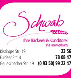 Anzeige Bäckerei Schwab Inh. Marc Scheller