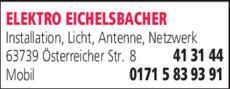 Anzeige ELEKTRO EICHELSBACHER