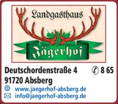Anzeige Gasthaus Jägerhof