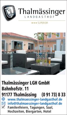 Anzeige Thalmässinger Landgasthof