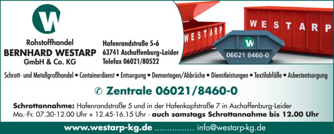 Anzeige Westarp Bernhard GmbH & Co. KG