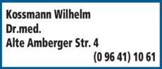 Anzeige Kossmann Wilhelm Dr.med.
