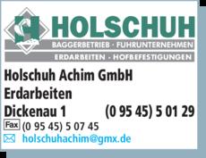 Anzeige Holschuh Achim GmbH