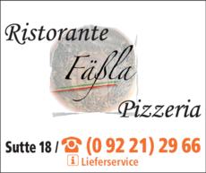 Anzeige Fäßla Ristorante Pizzeria