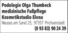 Anzeige Podologie Thumbeck Olga