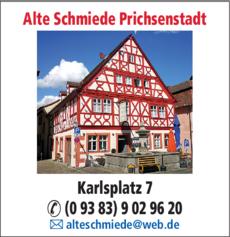 Anzeige Alte Schmiede Prichsenstadt
