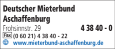 Anzeige Deutscher Mieterbund Aschaffenburg