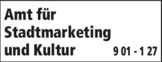 Anzeige Amt für Stadtmarketing und Kultur