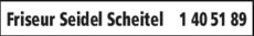 Anzeige Friseur Seidel Scheitel