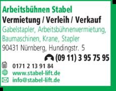 Anzeige Arbeitsbühnen Stabel GmbH