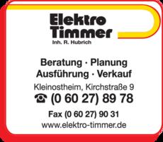 Anzeige Elektro Timmer