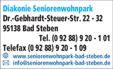 Anzeige Diakonie Seniorenwohnpark