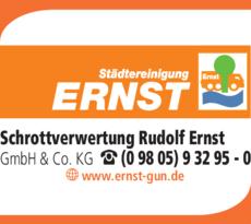 Anzeige Schrottverwertung Ernst Rudolf GmbH & Co. KG