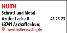 Anzeige HUTH Schrott und Metall