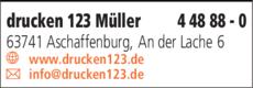 Anzeige drucken123 Offset-Druck Müller