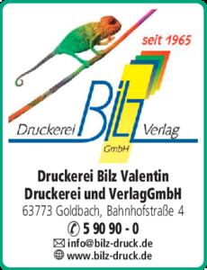Anzeige Bilz Valentin GmbH