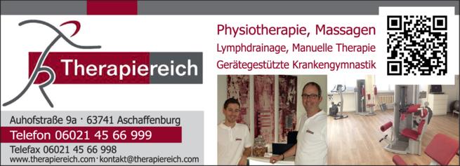 Anzeige Physiotherapie Therapiereich Jörn Zaeske & Christian Stadelmann