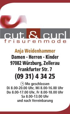 Anzeige Cut & Curl Friseur