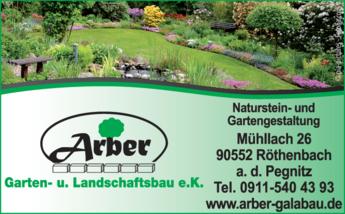 Anzeige Garten- u. Landschaftsbau Arber