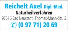 Anzeige Reichelt Axel Dipl. Med.