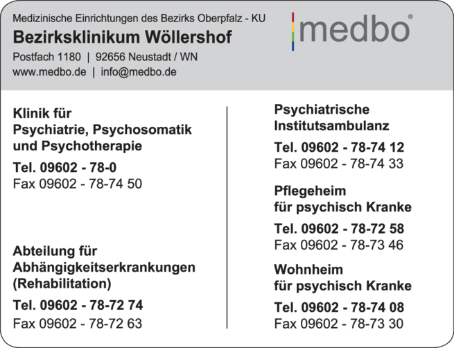 Anzeige medbo Bezirksklinikum Wöllershof