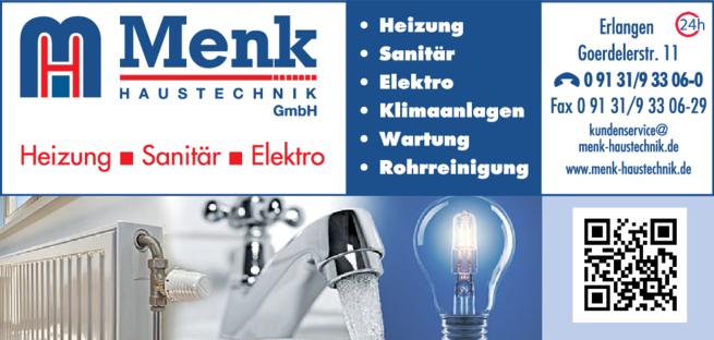 Anzeige Sanitärinstallation Menk Haustechnik