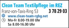 Anzeige Clean Team Textilpflege