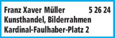 Anzeige Müller Franz Xaver