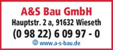 Anzeige A&S Bau GmbH