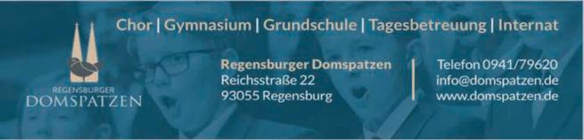 Anzeige Internat der Regensburger Domspatzen