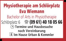 Anzeige Krankengymnastik Physiotherapie am Schlörplatz