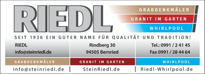 Anzeige Riedl Grabsteine