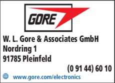 Anzeige Gore W.L. & Associates GmbH