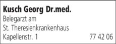 Anzeige Kusch Georg Dr.med.