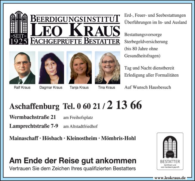Anzeige Pietät Kraus Leo GmbH