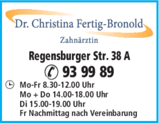 Anzeige Fertig C. Dr.med. dent.