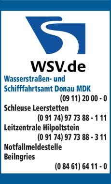 Anzeige Wasserstraßen-u. Schifffahrtsamt Donau MDK