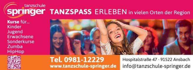 Anzeige ADTV Tanzschule Springer