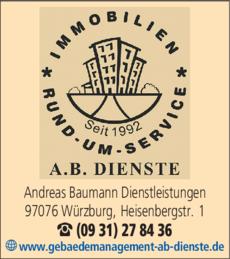 Anzeige A. B. Dienste Andreas Baumann Dienstleistungen