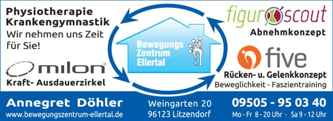 Anzeige Fitnesstraining Bewegungszentrum Ellertal