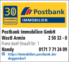 immobilien postbank gmbh in deggendorf in das rtliche. Black Bedroom Furniture Sets. Home Design Ideas