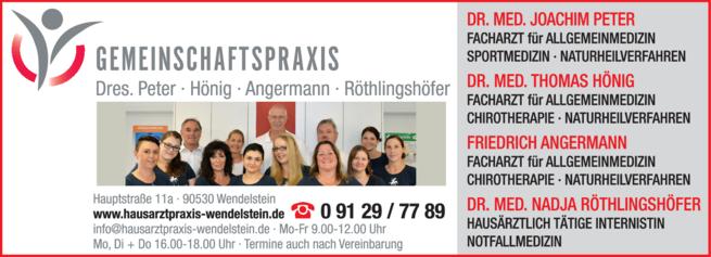 Anzeige Praktische Ärzte Peter Joachim Dr.med., Hönig Thomas Dr.med.