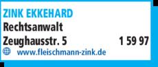Anzeige ZINK EKKEHARD