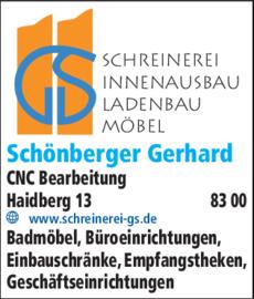 Anzeige Schönberger Gerhard