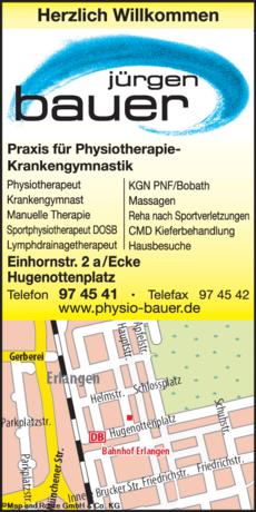 Anzeige Krankengymnastik Bauer