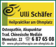Anzeige Heilpraktiker Schäfer Ulli
