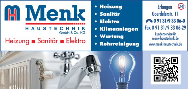 Anzeige Menk Haustechnik GmbH & Co. KG