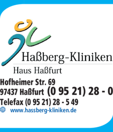 Anzeige Haßberg-Kliniken Haus Haßfurt