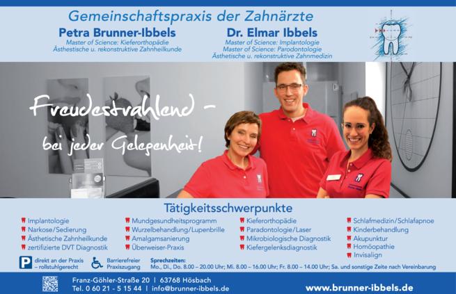 Anzeige Ibbels Elmar Dr., Brunner-Ibbels Petra
