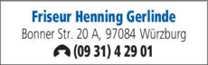 Anzeige Friseur Henning Gerlinde